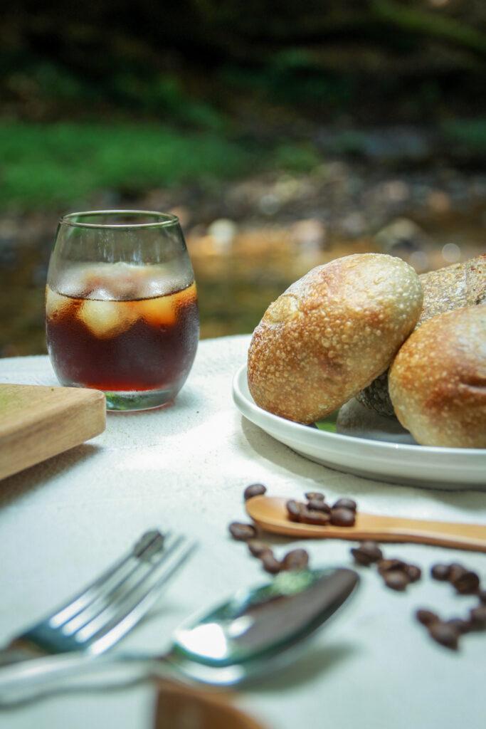 パンと水出し珈琲